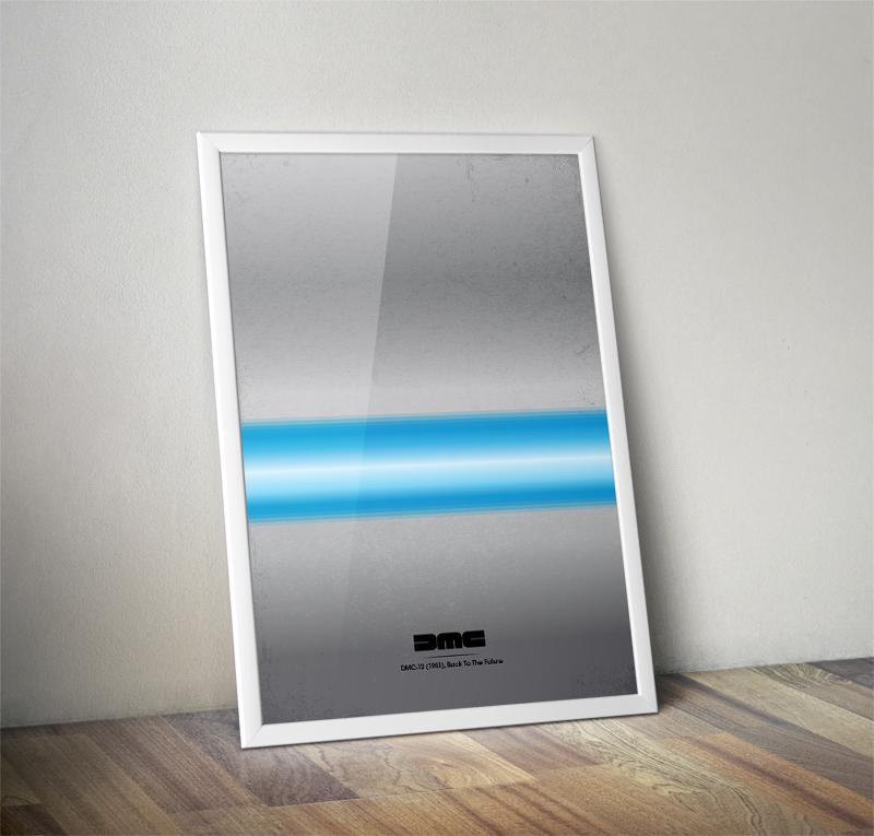 Delorean Minimalist Poster