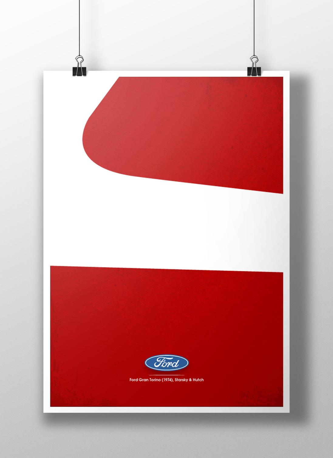 Starsky & Hutch Minimalist Poster
