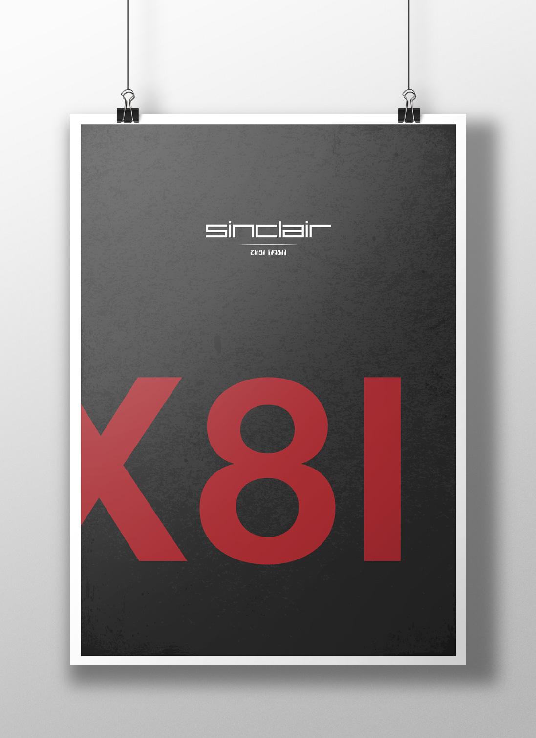 ZX81 Minimalist Poster